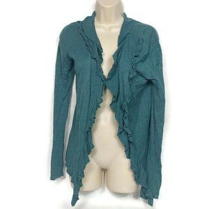 Ann Taylor Open Front Cardigan Sweater Small Teal